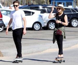 brooklyn beckham, skateboard, and chloe moretz image