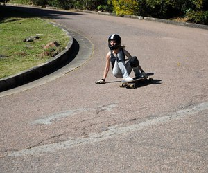 downhill, longboard, and slide image