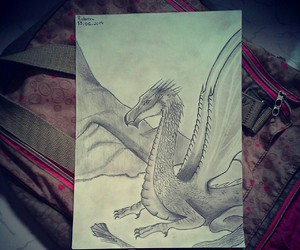 art, dragons, and draw image