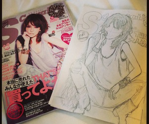 drawings, pencil, and magazine image