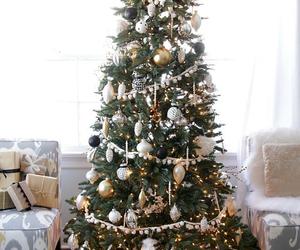 chic, christmas, and decor image