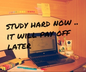 desk, exams, and work hard image