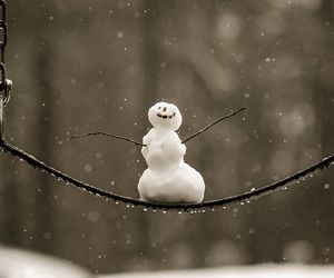 snowman, winter, and snow image