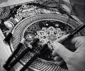 amazing, drawing, and black and white image