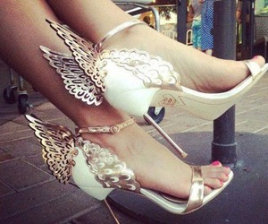 angel, luxury, and pretty feet image