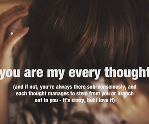 thoughts and text image