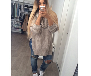 adidas, hair, and ripped jeans image