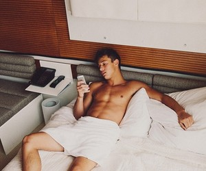 abs, bed, and boy image