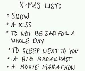 christmas, snow, and kiss image