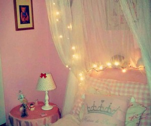 bed, bedroom, and christmas image