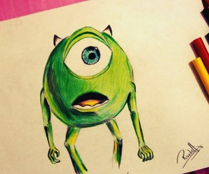 draw, mike, and cute image