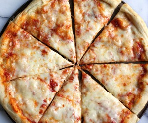cheesy, meal, and pizza image