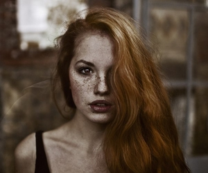 girl, model, and redhead image