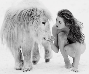 black & white, cold, and naked image