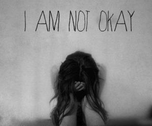 cry, girl, and not okay image