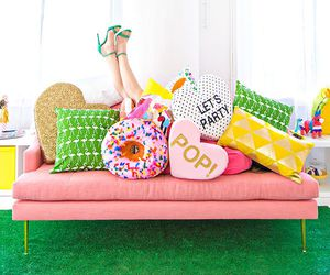 pillow, shoes, and decor image