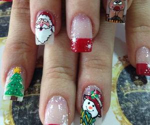 december, merry christmas, and nail image