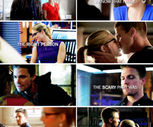 arrow, oliver queen, and love image