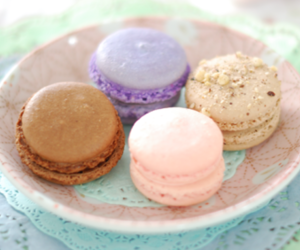 dessert, macarons, and cute image