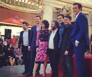 elijah wood, evangeline lilly, and lee pace image