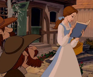 belle, beauty and the beast, and book image