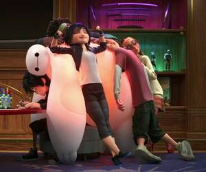 hero, friends, and baymax image