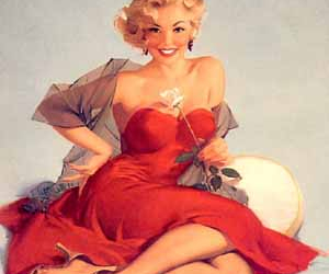 1950's, dress, and red image