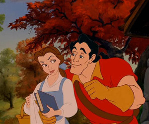 belle, the beauty and the beast, and disney image