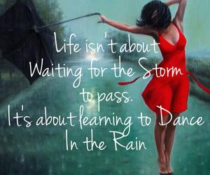 dance, dress, and rain image