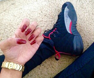 nails, jordans, and @egyptianx image