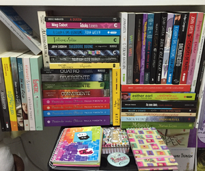 books, notes, and fangirl image