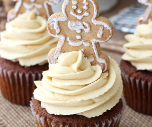 cupcakes, food, and gingerbread image