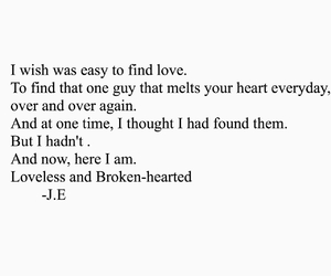 broken heart, depressed, and quote image