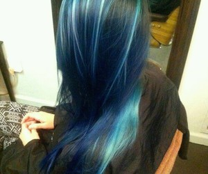 blue, hairstyle, and love image