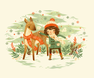 bambi, snow, and winter image