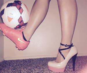 cleats, soccer, and heels image