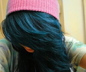 hair, girl, and beanie image