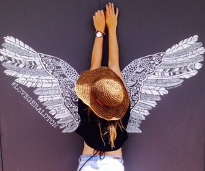 art, beautiful, and fly image