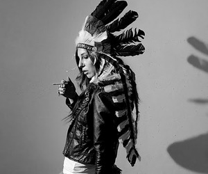 indian, cigarette, and feather image