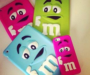 iphone, m&m, and tablet image