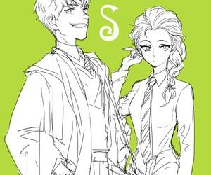 jelsa, jack frost, and hogwarts image