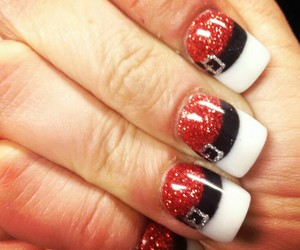 santa, xmas, and nailart image