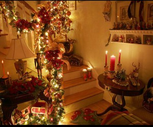 christmas, lights, and decorations image
