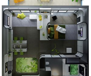 apartment, interior, and small image