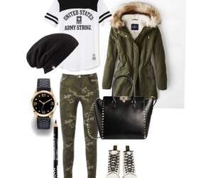 beanie, watch, and coat image