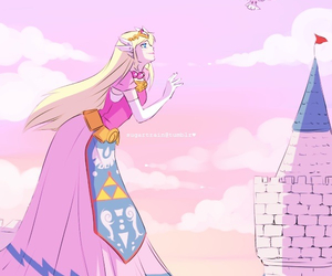 castle, kawaii, and pink image