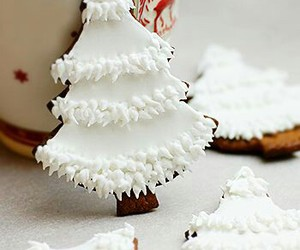 christmas, Cookies, and white image