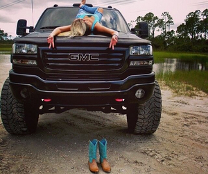 gmc, truck, and country girl image