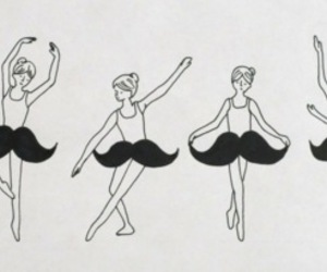 mustache, ballet, and dance image