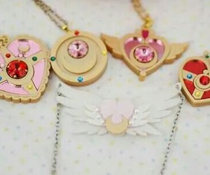 sailor moon, kawaii, and necklace image